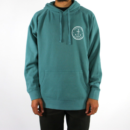 Trigger Bros Anchor Hoodie Mens in Faded Teal