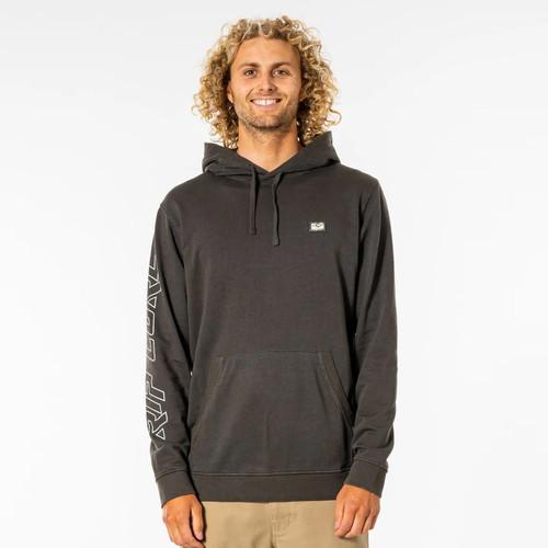 Rip Curl Original Surfers Hoodie Mens in Washed Black