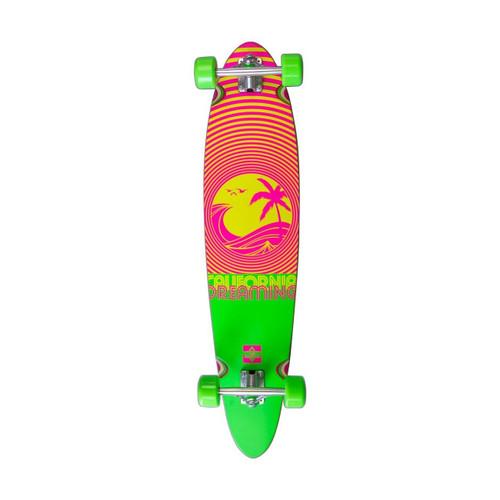 Dusters California Dreaming Longboard 40in Skateboard in Neon Green