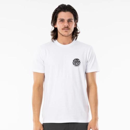 Rip Curl Wettie Icon Tee Mens in White