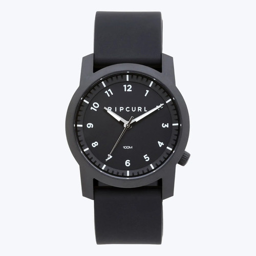 Rip Curl Cambridge Silicone Watch in Black