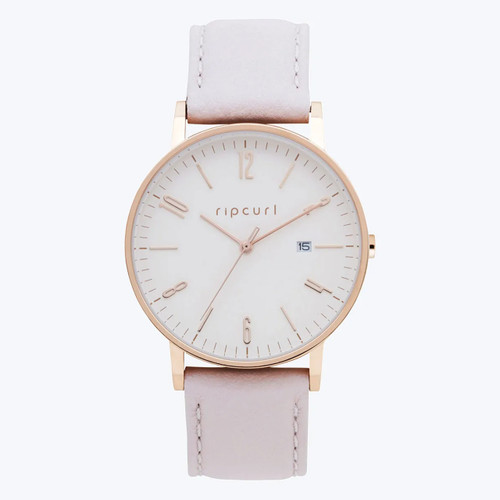 Rip Curl Latch Rose Gold Leather Watch Ladies in Pink