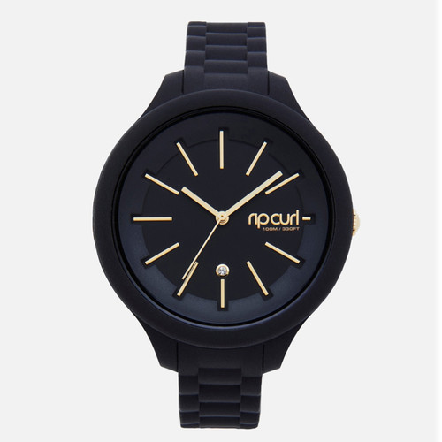 Rip Curl Deluxe Horizon Silicone Watch Ladies in Black
