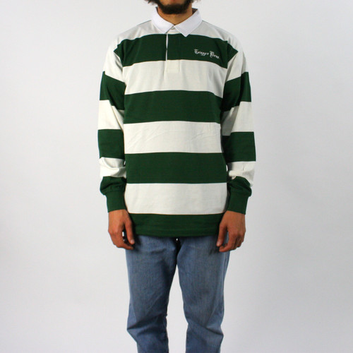 Trigger Bros Embroidered Rugby Top Mens in Natural Forest