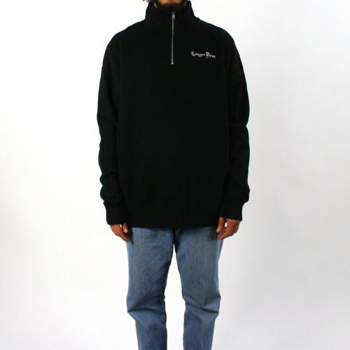 Trigger Bros Embroidered Half Zip Fleece Mens in Black