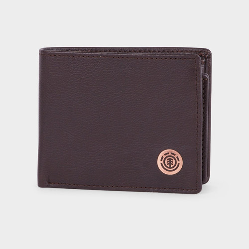 Element Icon Wallet Mens in Chocolate
