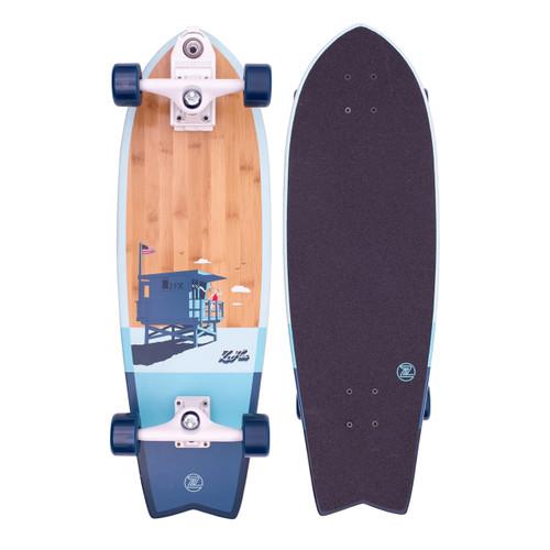 Z-Flex Bamboo Series Surfskate Fish 31in Skateboard