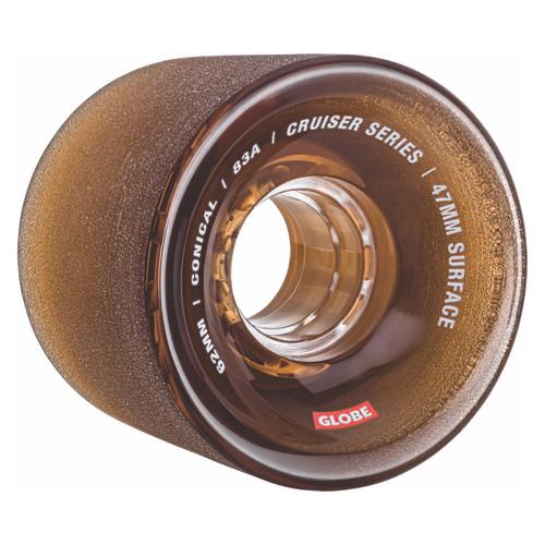 Globe Conical Cruiser Wheel 62MM in Clear Coffee