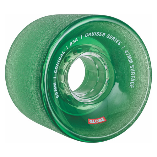 Globe Conical Cruiser Wheel 65MM in Clear Forest