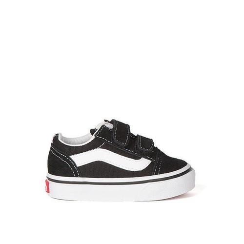 Vans Old Skool Velcro Shoes Toddlers in Black