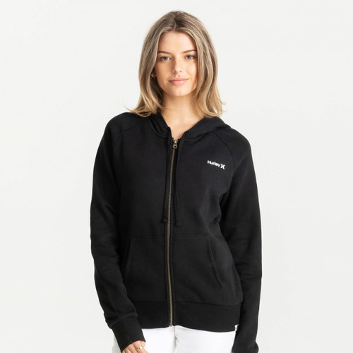 Hurley One And Only Smalls Zip Fleece Womens in Black