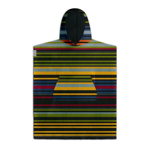 Leus Renegade Poncho Towel Kids in Black