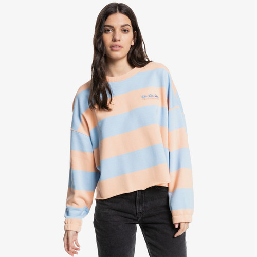 Quiksilver Womens Palm Roots Crew in Peach