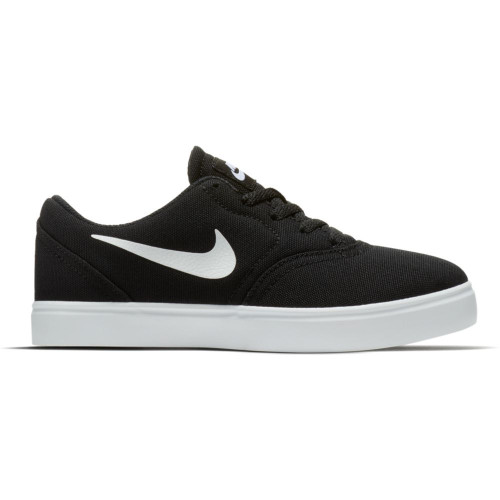 Nike SB Check Canvas PS Youth Shoes in Black White