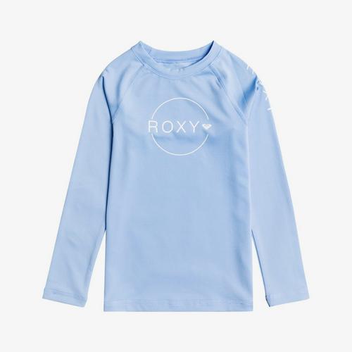 Roxy Beach Classics Long Sleeve Rashvest Junior Girls in Placid Blue