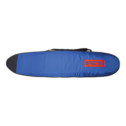 FCS 9ft 6 Classic Long Board Cover in Steel Blue White