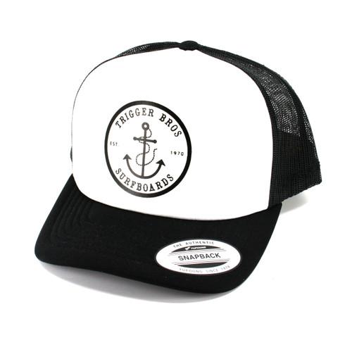 Trigger Bros Anchor Trucker Hat in Black White