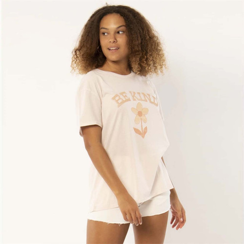Sisstrevolution Be Kind Knit Tee Womens in Pink Glow