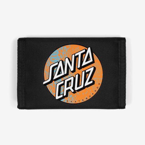 Santa Cruz Snake Dot Velcro Wallet Mens in Black