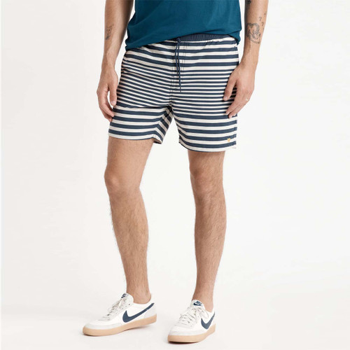 Brixton Voyage Short Mens in Off White Washed Navy