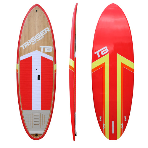 Trigger Bros Premium Stand Up Paddle Board in Red