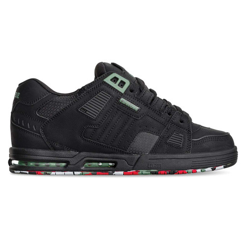 Globe Sabre Shoes Mens in Black Upcycle
