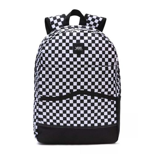 Vans Construct Skool Backpack in Black White Check