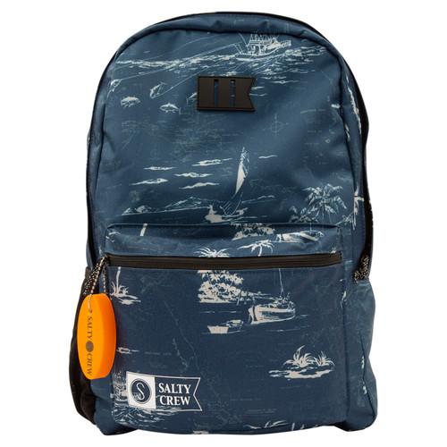 Salty Crew Brig Backpack Mens in Navy