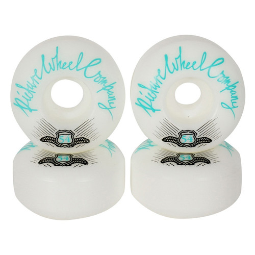 Picture Wheel Co Shield Conical Shape 54MM 83B Skate Wheels in Teal