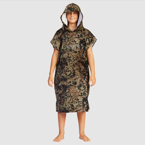 Billabong Hooded Poncho Towel Boys in Military