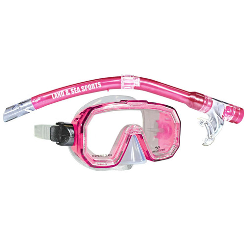 Land And Sea Kakadu Junior Mask And Snorkel Set in Pink