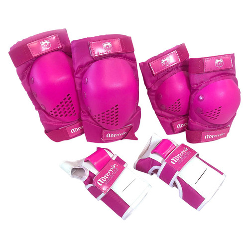 Adrenalin Skate Protection 6 Piece Youth Set in Pink