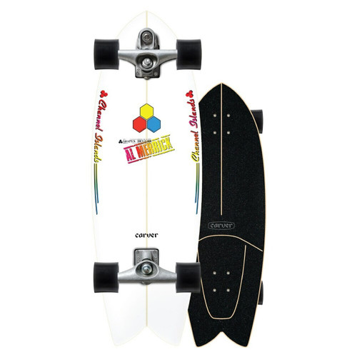 Carver x Channel Islands Fishbeard C7 Raw 29.25in Surfskate Complete