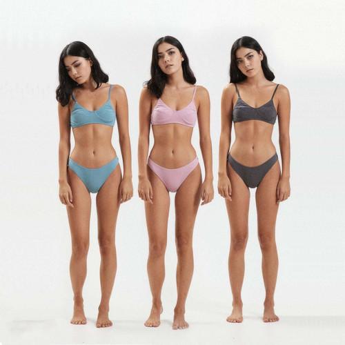 Afends Lolly Hemp Bikini Brief 3 Pack Womens in Multi
