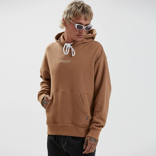 Afends Supply Recycled Hoodie Mens in Camel