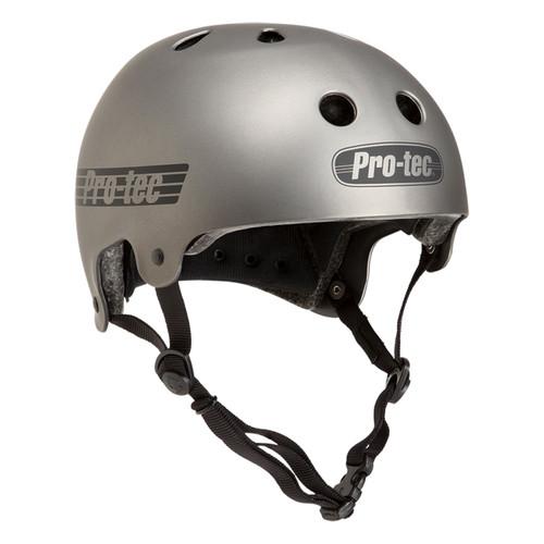 Protec Old School Certified Helmet in Metallic Gunmetal