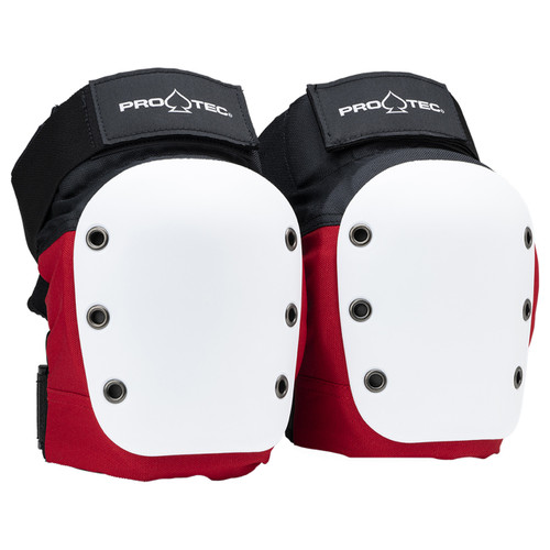 Protec Street Knee Pads in Red White Black