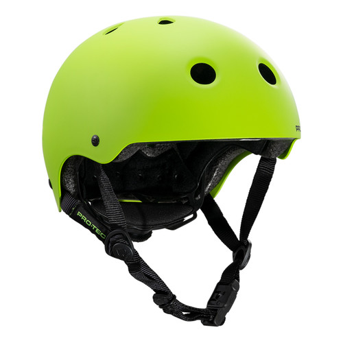 Protec Junior Classic Fit Certified Helmet in Matt Lime
