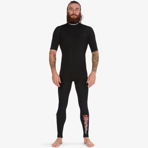 Quiksilver 2MM Everyday Sessions Short Arm CZ Steamer Mens in Black