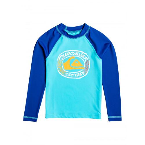 Quiksilver Bubble Dreams LS Rashvest Junior Boys in Blue Atoll