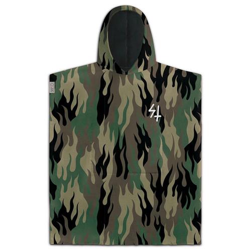 Leus Sketchy Tank Poncho Towel in Green