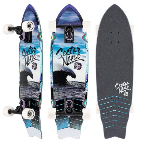 Sector 9 Wavepark Shadow 30.25 Cruiser Skateboard Complete