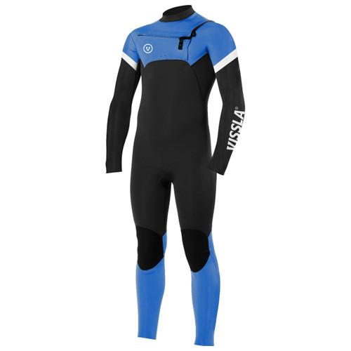 Vissla 3x2 Seven Seas Raditude Chest Zip Steamer Boys in Super Blue