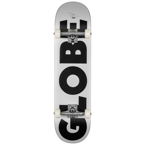 Globe G0 Fubar 8.0 Skateboard Complete in White Black