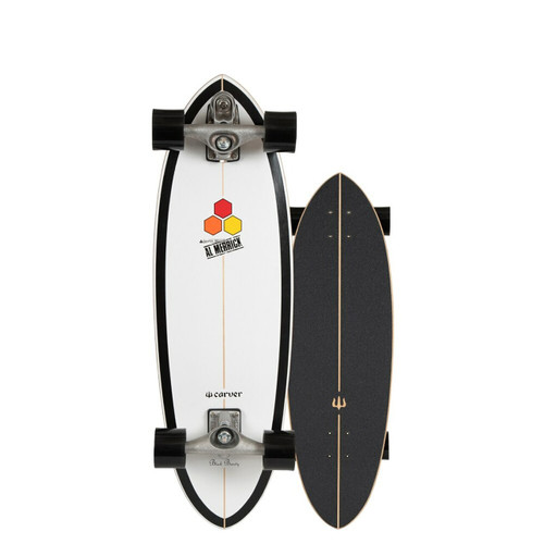 Carver x Channel Islands Black Beauty C7 Raw 31.75in Surfskate Complete