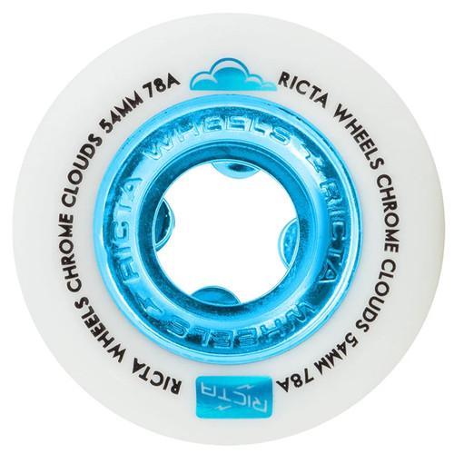 Ricta Chrome Clouds 54MM 78A Blue Skate Wheels