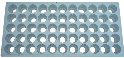 "Floating seedling tray for large plugs used in 2"" Net Pots - Top View"