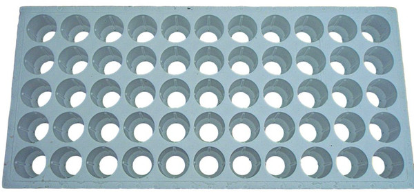 """Floating seedling tray for large plugs used in 2"""" Net Pots - Top View"""