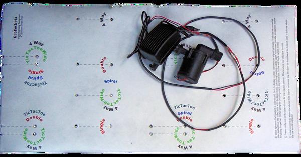 GroPockets Marking Template and class B pump vertical farming pump