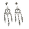 Sterling Dangling Marcasite Earrings